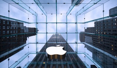 """""""Apple's 5th Avenue store, designed by Bohlin Cywinski Jackson, the retailer's architect firm of choice."""""""