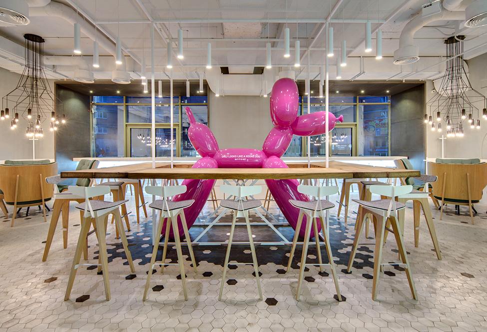 Giant Pink Koons Dog - The Cake Cafe in Kiev giant pink koons dog Giant Pink Koons Dog – The Cake Cafe in Kiev A Giant Pink Koons Dog The Cake Cafe in Kiev 7