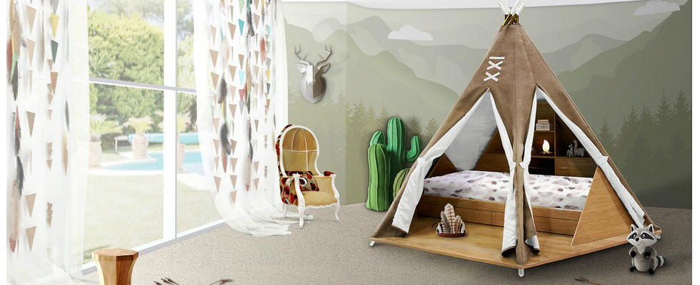 Kids Bedroom Ideas: Meet Original Teepee Room By Circu ➤To see more interior design ideas and the best shops visit us at http://interiordesignshop.net #interiordesign #salonedelmobile #isaloni @interiordesignshop original teepee room Kids Bedroom Ideas: Meet Original Teepee Room By Circu featshops 6